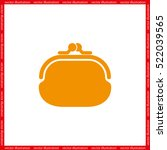 purse icon vector illustration... | Shutterstock .eps vector #522039565