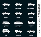 car icons set. twelve different ... | Shutterstock .eps vector #522048202