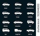 car icons set. twelve different ... | Shutterstock .eps vector #522048202