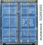 Blue Metal Shipping Container...