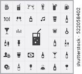 bar icons universal set for web ... | Shutterstock .eps vector #522058402