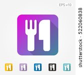 colored icon of cutlery symbol... | Shutterstock .eps vector #522060838