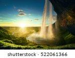 seljalandfoss waterfall in... | Shutterstock . vector #522061366