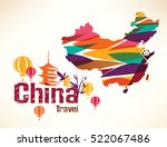 china travel background in... | Shutterstock .eps vector #522067486
