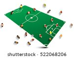 abstract soccer field with... | Shutterstock .eps vector #522068206
