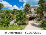 Mayan Ruins Of Tulum. Old City...