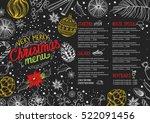 christmas restaurant brochure ... | Shutterstock .eps vector #522091456