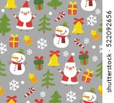 happy holidays pattern | Shutterstock .eps vector #522092656