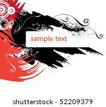 grunge background | Shutterstock .eps vector #52209379
