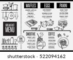 breakfast menu placemat food... | Shutterstock .eps vector #522094162