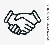 handshake friendship... | Shutterstock .eps vector #522097876