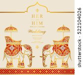 india wedding card. | Shutterstock .eps vector #522104026