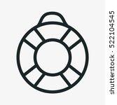 lifesaver minimalistic flat... | Shutterstock .eps vector #522104545