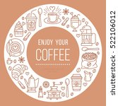 coffee shop poster template.... | Shutterstock .eps vector #522106012