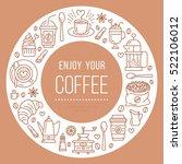 coffee shop poster template.... | Shutterstock .eps vector #522106012