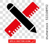 ruler and pencil design tools... | Shutterstock .eps vector #522108952