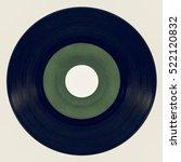 vintage looking vinyl record... | Shutterstock . vector #522120832