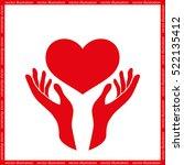 heart in the hands icon vector... | Shutterstock .eps vector #522135412