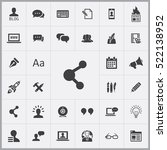 share icon. blog icons... | Shutterstock .eps vector #522138952