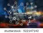 industrial internet of things... | Shutterstock . vector #522147142