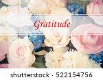 gratitude    abstract... | Shutterstock . vector #522154756
