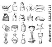 vector set of spa icons. sketch | Shutterstock .eps vector #522155215