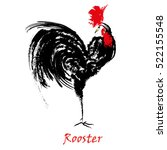 rooster bird concept. chinese... | Shutterstock .eps vector #522155548