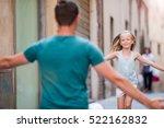 family in european city. happy... | Shutterstock . vector #522162832