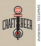 craft beer vector design with... | Shutterstock .eps vector #522169642