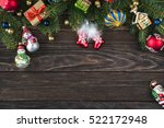 christmas and new year... | Shutterstock . vector #522172948