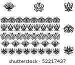 flower patterns and borders for ... | Shutterstock .eps vector #52217437