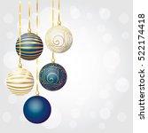 a set of christmas balls. new...   Shutterstock .eps vector #522174418