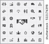 handshake icon. business... | Shutterstock .eps vector #522176398