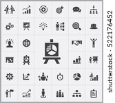 business strategy icons... | Shutterstock .eps vector #522176452
