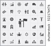 business strategy icons... | Shutterstock .eps vector #522176476