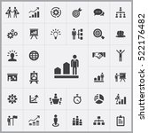 business strategy icons... | Shutterstock .eps vector #522176482