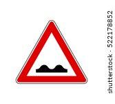 bumpy road sign   european red... | Shutterstock .eps vector #522178852
