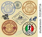 travel stamps or symbols set ... | Shutterstock .eps vector #522182716