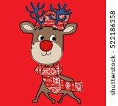christmas pattern | Shutterstock .eps vector #522186358