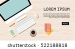 workplace concept for web... | Shutterstock .eps vector #522188818