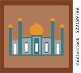 mosque icon in flat style on a... | Shutterstock .eps vector #522189766
