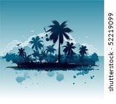 tropical island | Shutterstock .eps vector #52219099
