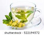 cup of herbal tea with linden... | Shutterstock . vector #522194572