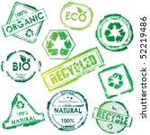 Vector Eco Stamp Set