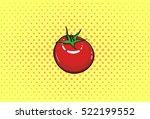 tomato  vegetable  pop art ... | Shutterstock .eps vector #522199552