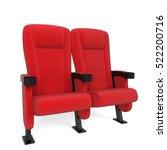 cinema chair. 3d illustration... | Shutterstock . vector #522200716