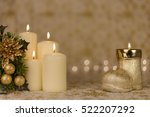 greeting card with christmas... | Shutterstock . vector #522207292