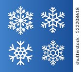 set of snowflakes vector... | Shutterstock .eps vector #522208618