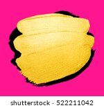 vector golden brush stroke for... | Shutterstock .eps vector #522211042