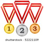 medals on ribbons | Shutterstock .eps vector #52221109